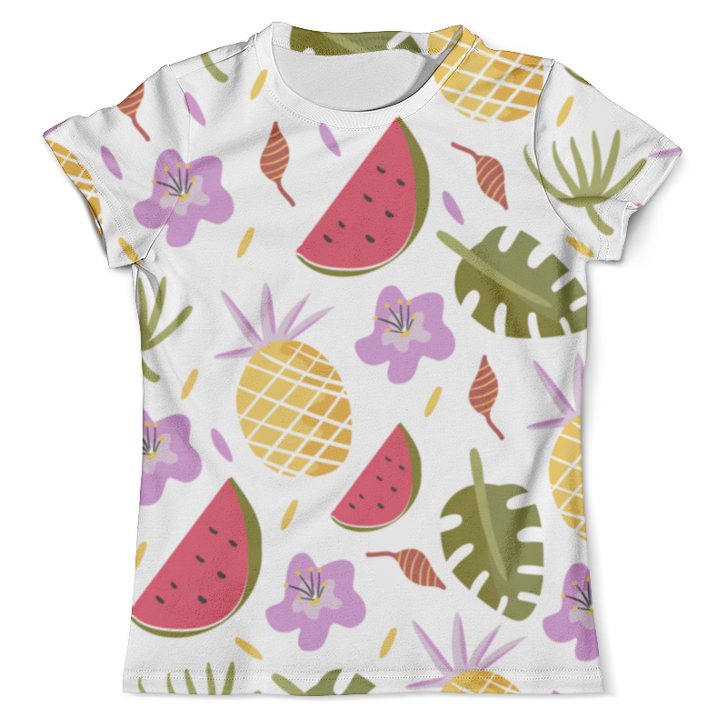 Футболка с полной запечаткой (мужская) Printio Арбузы и ананасы футболка с полной запечаткой мужская printio и по