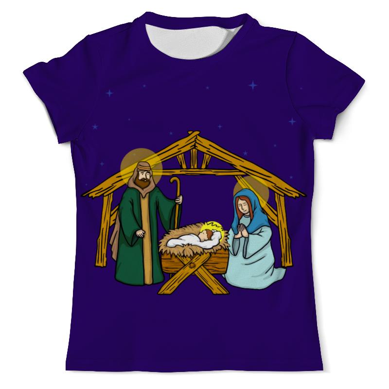 Футболка с полной запечаткой (мужская) Printio Рождество христово футболка с полной запечаткой для девочек printio рождество христово