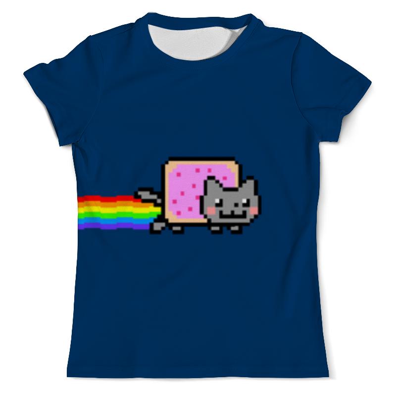 Футболка с полной запечаткой (мужская) Printio Nyan cat футболка с полной запечаткой мужская printio grumpy cat
