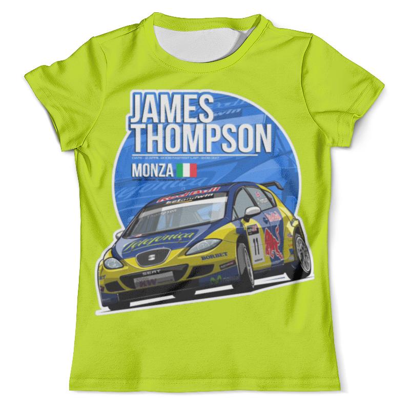 Футболка с полной запечаткой (мужская) Printio James thompson футболка для беременных printio hunter s thompson cat