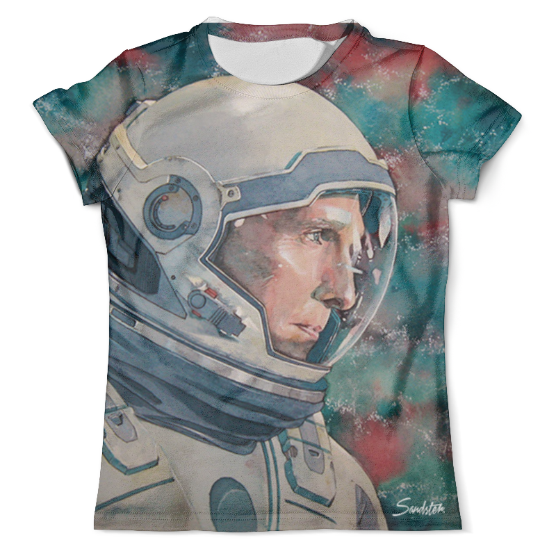 Футболка с полной запечаткой (мужская) Printio Interstellar футболка с полной запечаткой мужская printio фрактальная эзотерика мандалы