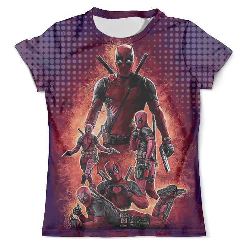 Футболка с полной запечаткой (мужская) Printio Deadpool design (new)