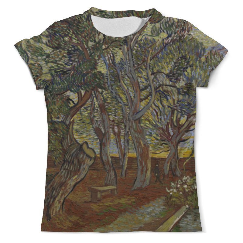 Футболка с полной запечаткой (мужская) Printio Сад при приюте в сан-реми (винсент ван гог) рюкзак мешок с полной запечаткой printio персиковое дерево в цвету ван гог