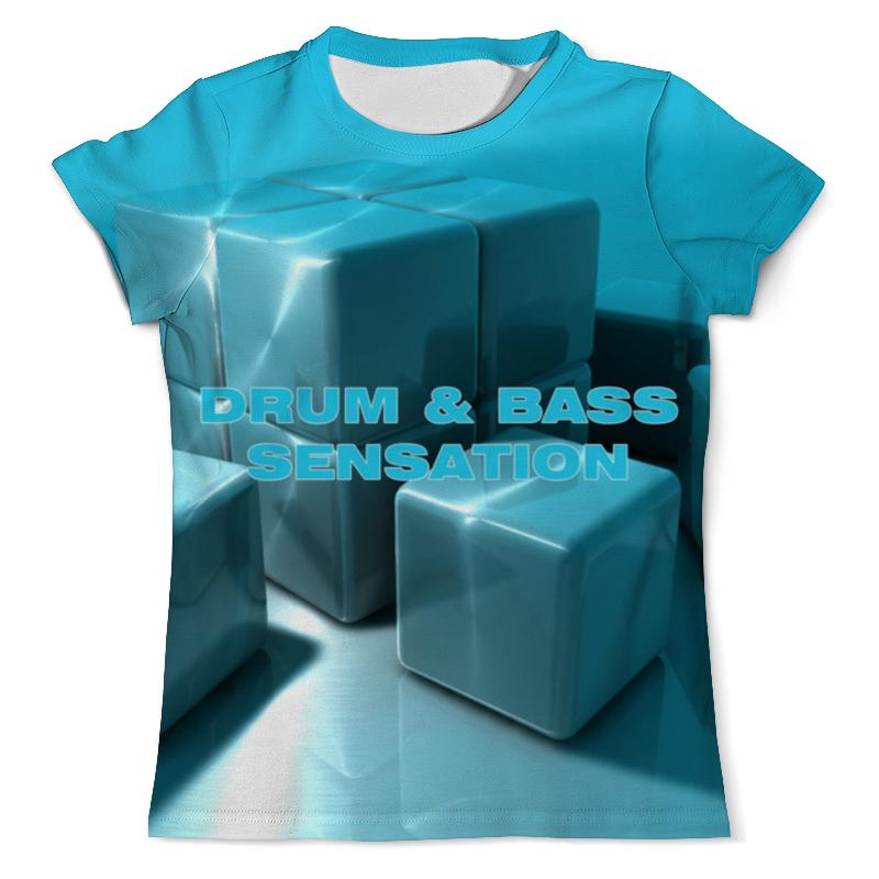Футболка с полной запечаткой (мужская) Printio Drum and bass свитшот мужской с полной запечаткой printio drum and bass