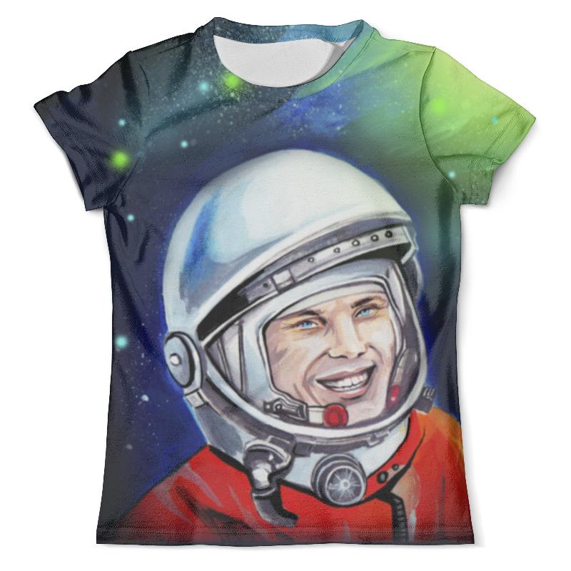 Футболка с полной запечаткой (мужская) Printio Гагарин в космосе