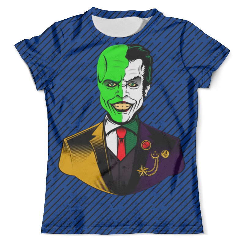 Футболка с полной запечаткой (мужская) Printio The joker&mask футболка с полной запечаткой мужская printio the mask vs beetlejuice 1