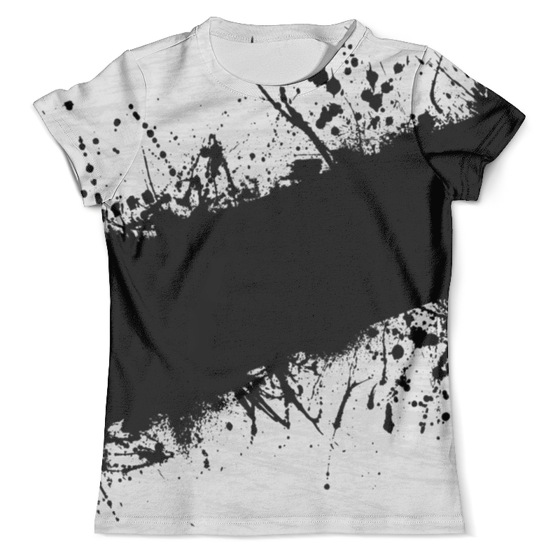 Футболка с полной запечаткой (мужская) Printio Черная краска футболка черная мужская без рисунка