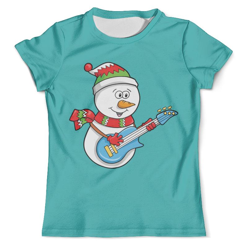 Футболка с полной запечаткой (мужская) Printio Снеговик с гитарой (новый год) футболка с полной запечаткой мужская printio фрактальная эзотерика мандалы