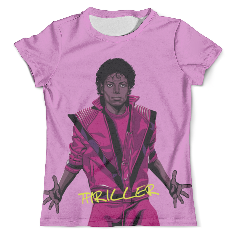 Футболка с полной запечаткой (мужская) Printio Thriller - michael jackson (двусторонняя) футболка с полной запечаткой женская printio thriller michael jackson двусторонняя