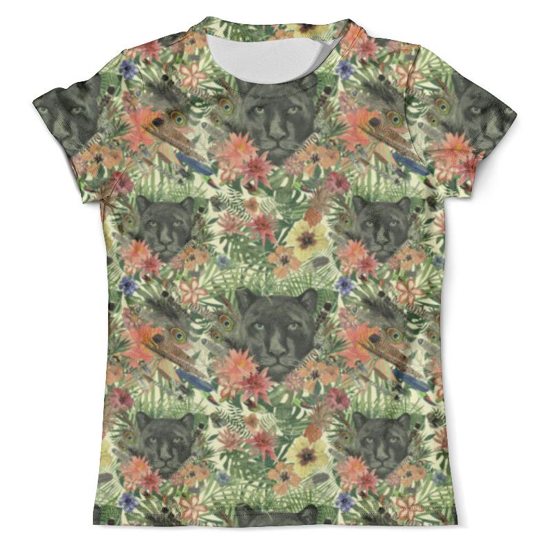 Футболка с полной запечаткой (мужская) Printio Flora & panther design (day) футболка с полной запечаткой мужская printio flora