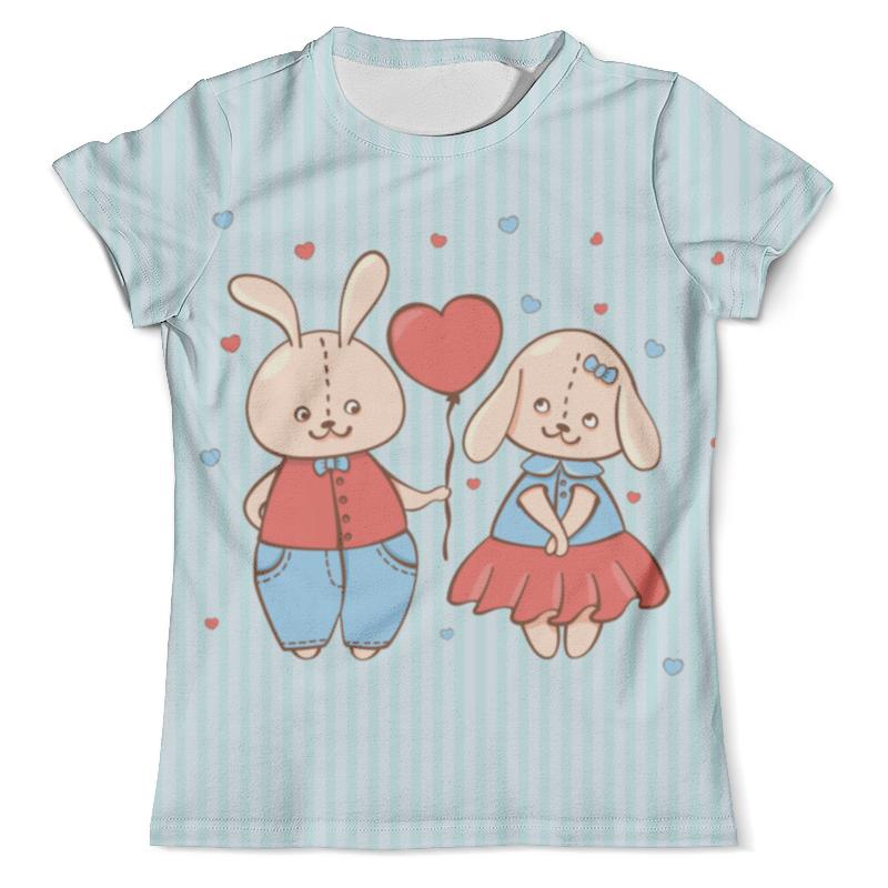 Футболка с полной запечаткой (мужская) Printio Влюбленные зайцы. парные футболки. футболка с полной запечаткой мужская printio зайцы