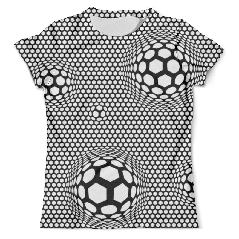 Футболка с полной запечаткой (мужская) Printio Футбольные мячи (1) lion enpex взрослые футбольные поножи пластиковые футбольные щиты вставьте стильные ножки l no черный