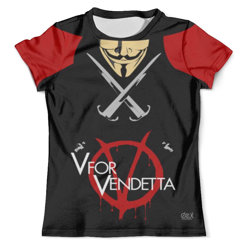 Футболка с полной запечаткой (мужская) Printio V for vendetta футболка с полной запечаткой мужская printio v значит вендетта v for vendetta