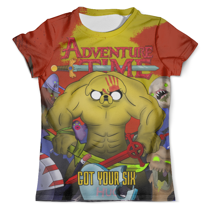 Футболка с полной запечаткой (мужская) Printio Adventure time - got your six write your own adventure stories