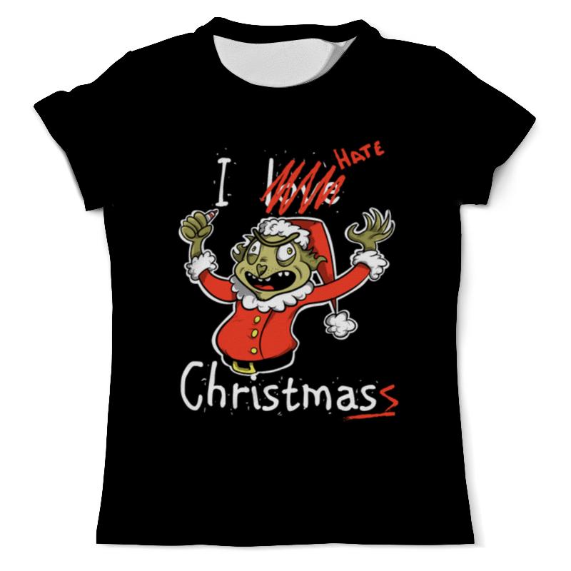 Футболка с полной запечаткой (мужская) Printio I hate christmas футболка i hate sport