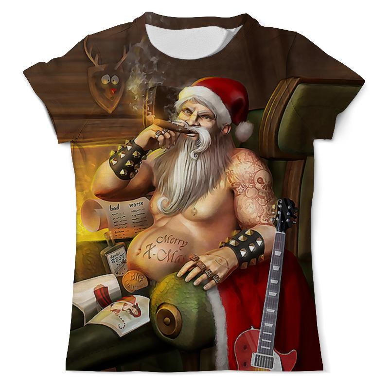 Футболка с полной запечаткой (мужская) Printio Santa biker футболка с полной запечаткой мужская printio bad santa