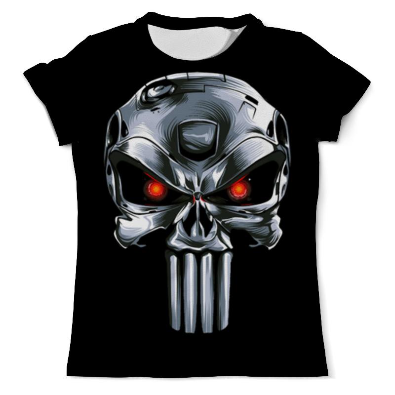 Футболка с полной запечаткой (мужская) Printio Punisher of the future (terminator)