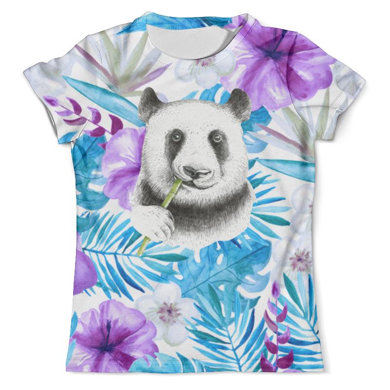 Футболка с полной запечаткой (мужская) Printio Панда и цветы футболка с полной запечаткой мужская printio панда