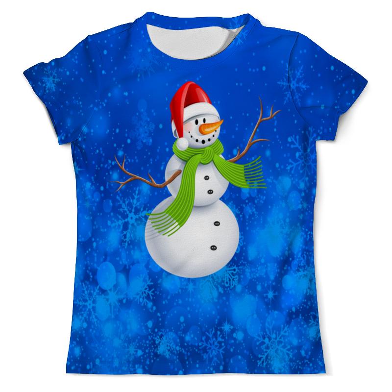 Printio Снеговик футболка с полной запечаткой мужская printio счастливый снеговик