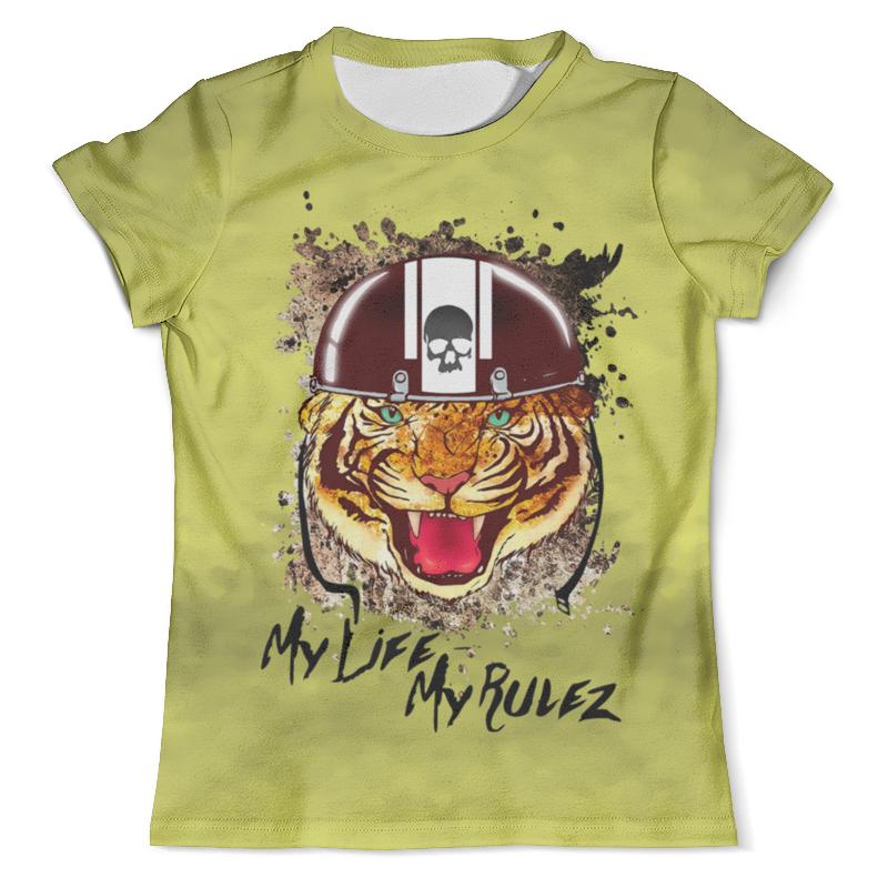 Футболка с полной запечаткой (мужская) Printio Тигр в каске футболка с полной запечаткой мужская printio амурский тигр