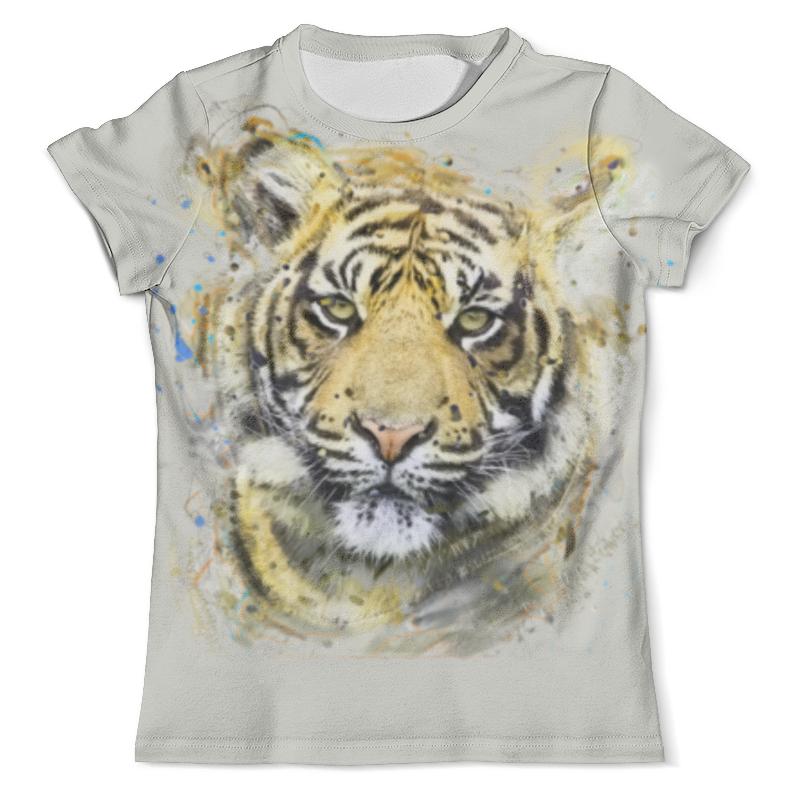 Футболка с полной запечаткой (мужская) Printio Красочный тигр футболка с полной запечаткой мужская printio красочный тигр