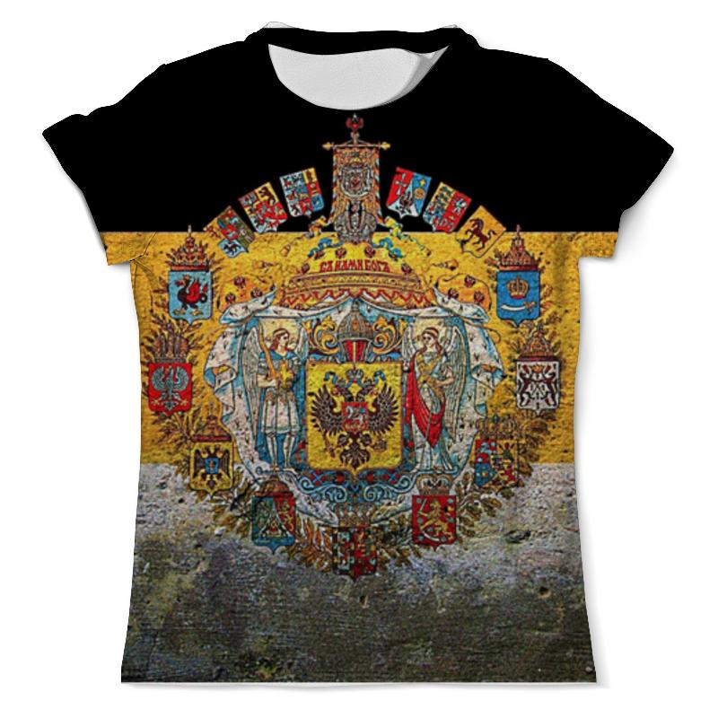 Футболка с полной запечаткой (мужская) Printio Флаг российской империи гербы российской империи