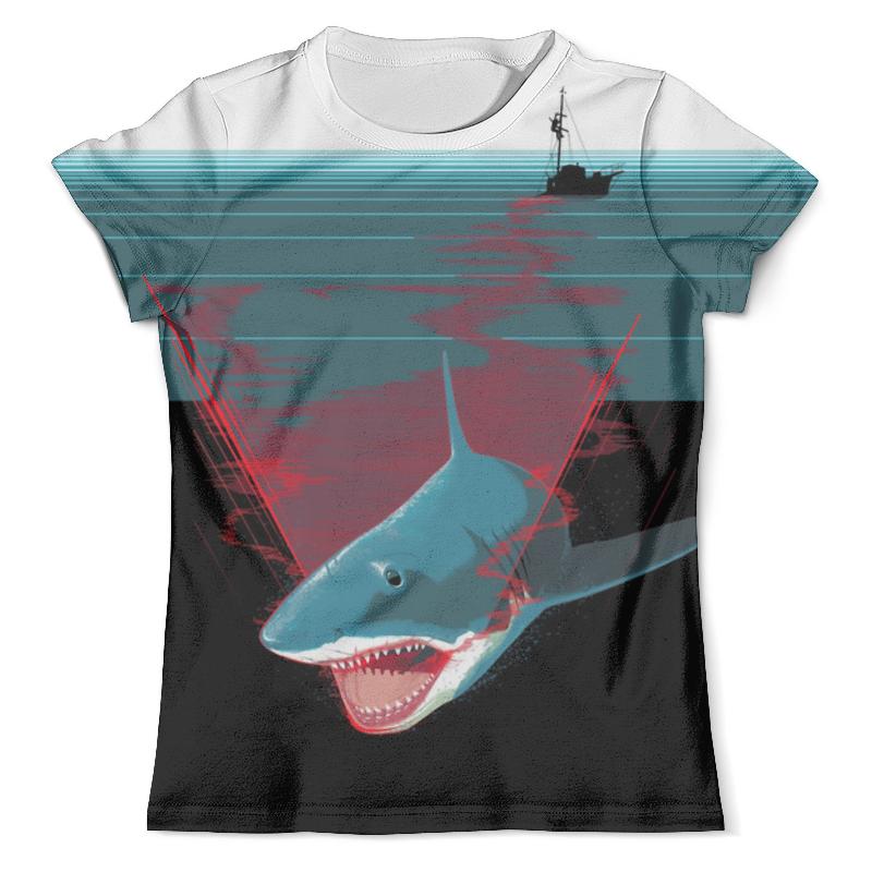 купить Футболка с полной запечаткой (мужская) Printio Shark attack по цене 2220 рублей