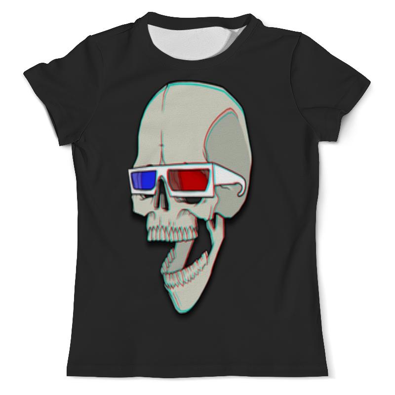 Printio 3d череп футболка с полной запечаткой мужская printio тигр 3d