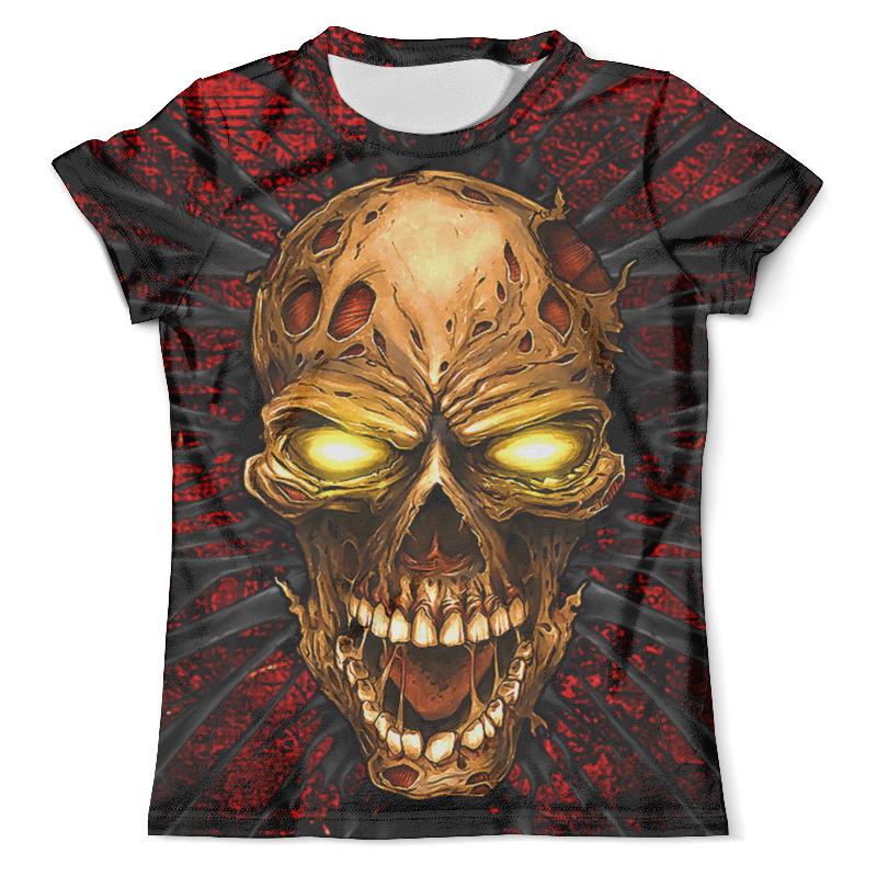 Футболка с полной запечаткой (мужская) Printio Zombie skull футболка с полной запечаткой мужская printio zombie ice