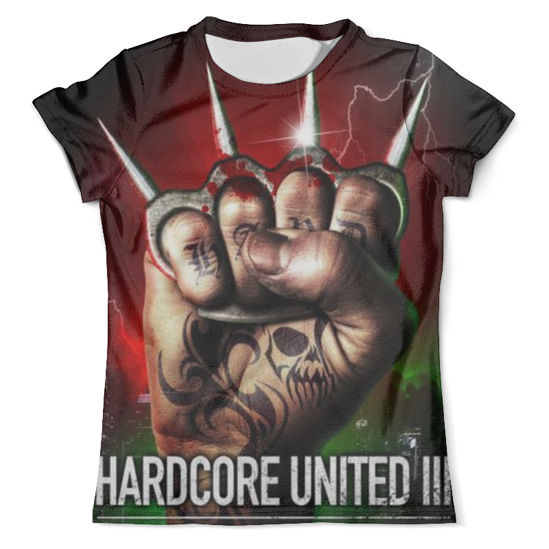 Футболка с полной запечаткой (мужская) Printio Hardcore united iii yo zuri hardcore surface crank