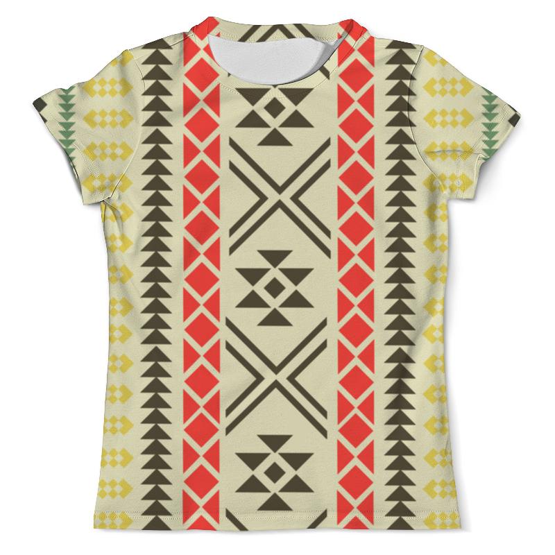 Printio Геометрический узор футболка с полной запечаткой мужская printio голубой геометрический узор