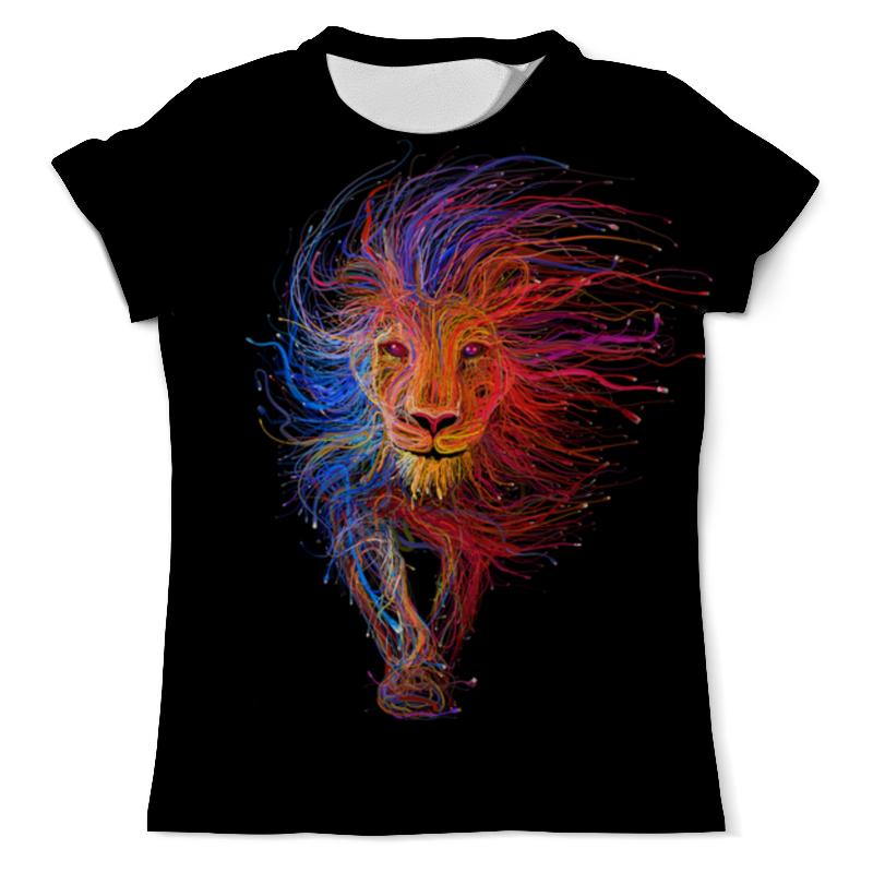 Printio Космический лев футболка с полной запечаткой мужская printio космический экстрим