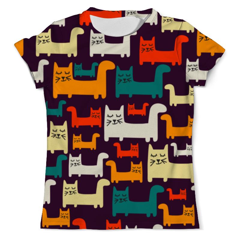 Футболка с полной запечаткой (мужская) Printio Спящие котики футболка с полной запечаткой для мальчиков printio спящие котики