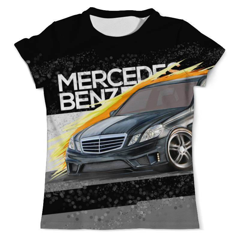 Футболка с полной запечаткой (мужская) Printio Mercedes benz e-class