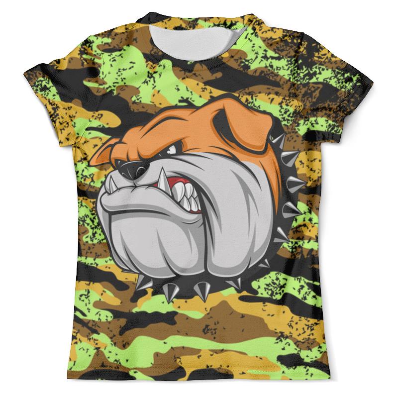 Футболка с полной запечаткой (мужская) Printio Bulldog (camouflage) xintown camouflage winter long sleeved