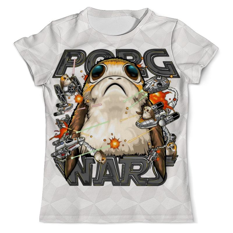 Футболка с полной запечаткой (мужская) Printio Porg wars design футболка с полной запечаткой для девочек printio porg wars design