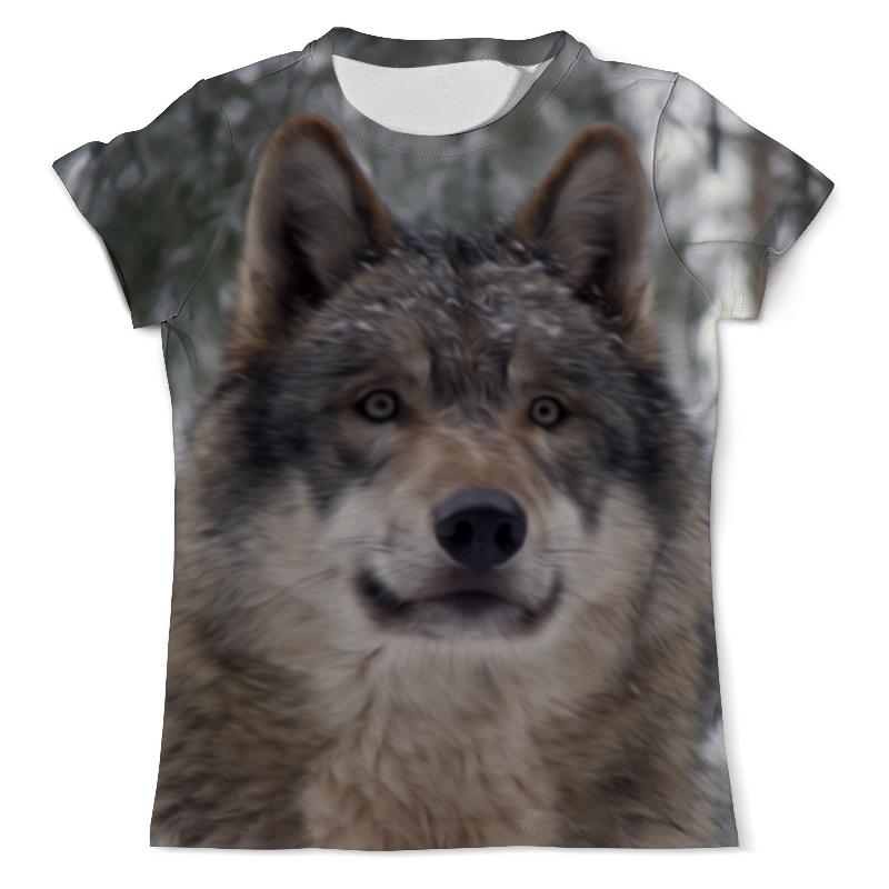 Футболка с полной запечаткой (мужская) Printio Волк в лесу футболка с полной запечаткой мужская printio красная шапочка и серый волк 3