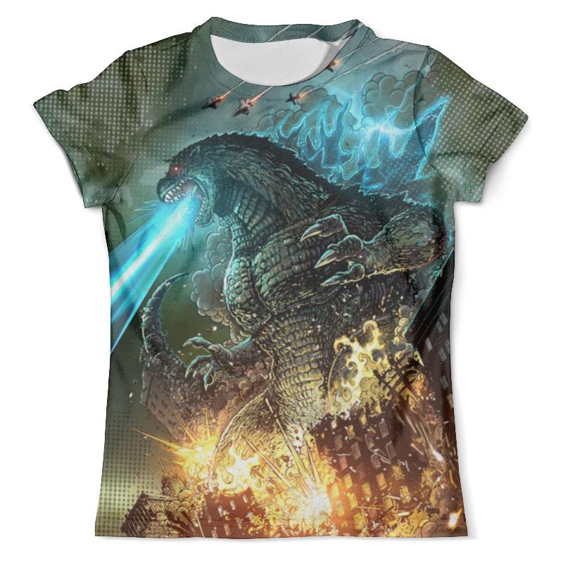 Футболка с полной запечаткой (мужская) Printio Godzilla design