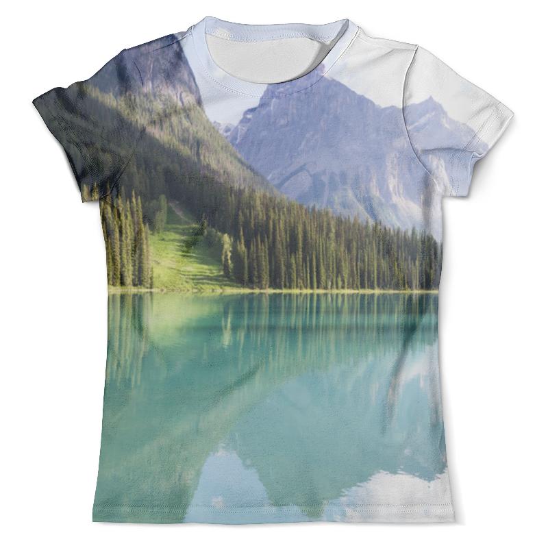 Футболка с полной запечаткой (мужская) Printio Прозрачное озеро футболка с полной запечаткой женская printio подземное озеро