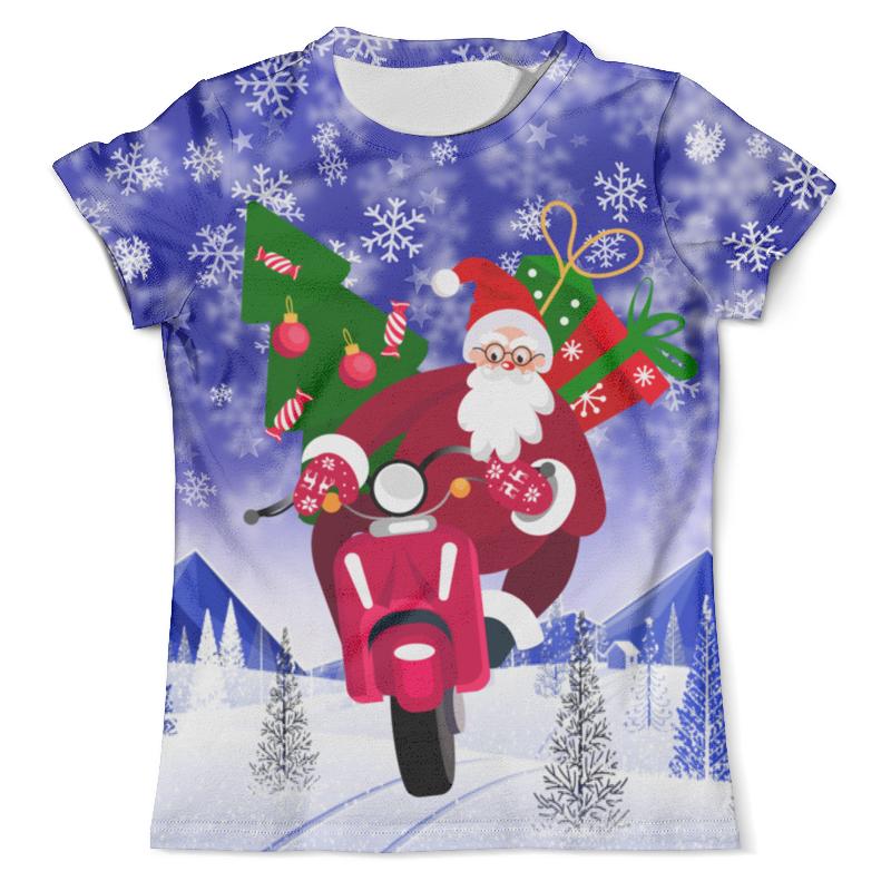 Футболка с полной запечаткой (мужская) Printio С новым годом! футболка с полной запечаткой мужская printio фрактальная эзотерика мандалы