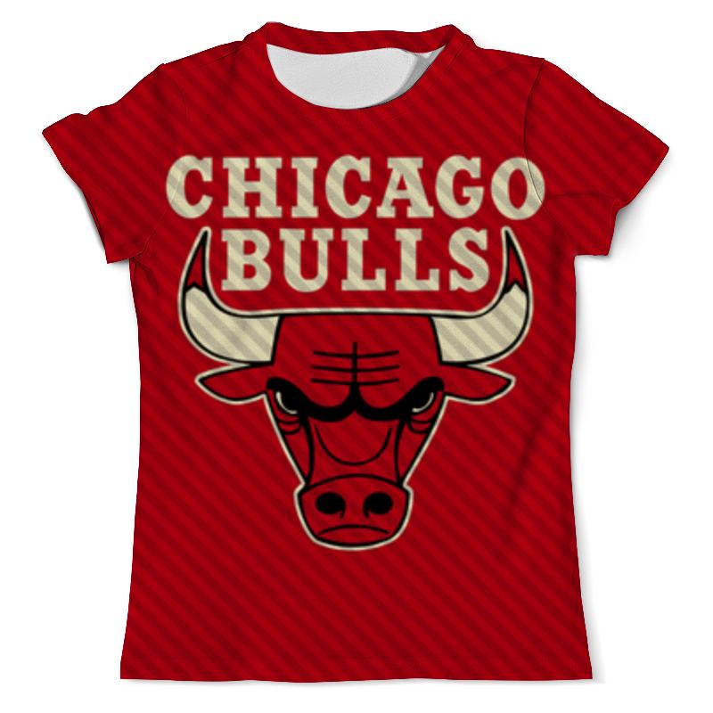 Футболка с полной запечаткой (мужская) Printio Чикаго буллз (chicago bulls)