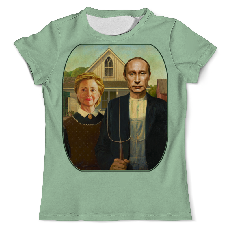 Футболка с полной запечаткой (мужская) Printio Путин и клинтон - карикатура футболка с полной запечаткой мужская printio путин в в