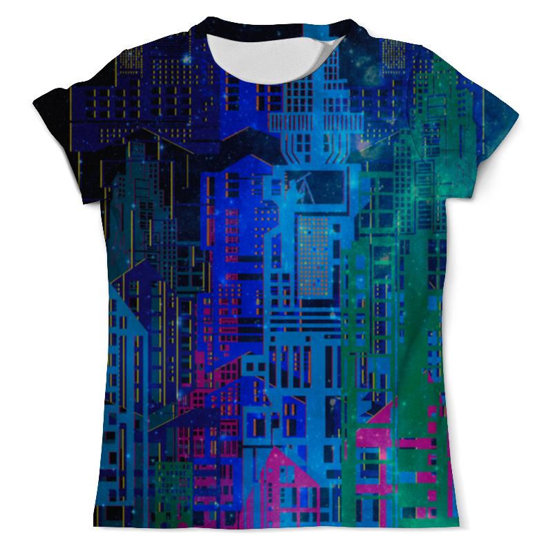 Printio Космический город футболка с полной запечаткой мужская printio космический экстрим