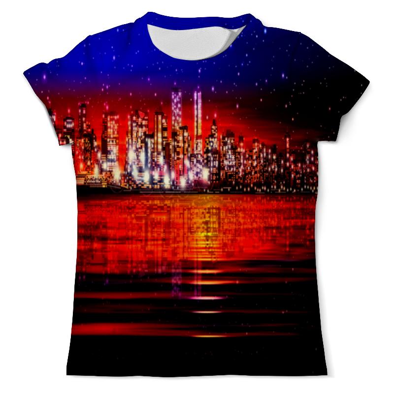 Футболка с полной запечаткой (мужская) Printio Ночной город футболка с полной запечаткой мужская printio осень город такси тоска