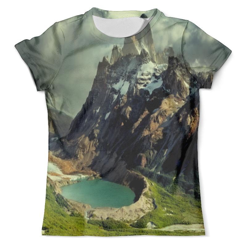 Футболка с полной запечаткой (мужская) Printio Озеро футболка с полной запечаткой женская printio подземное озеро