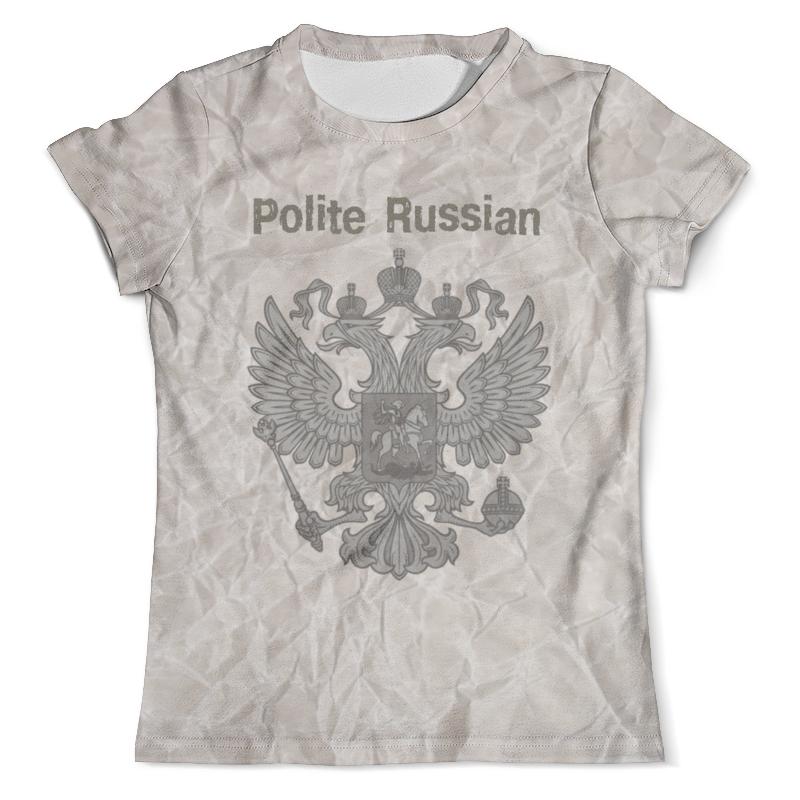 Футболка с полной запечаткой (мужская) Printio Вежливый русский футболка с полной запечаткой мужская printio добро пожаловать в джунгли