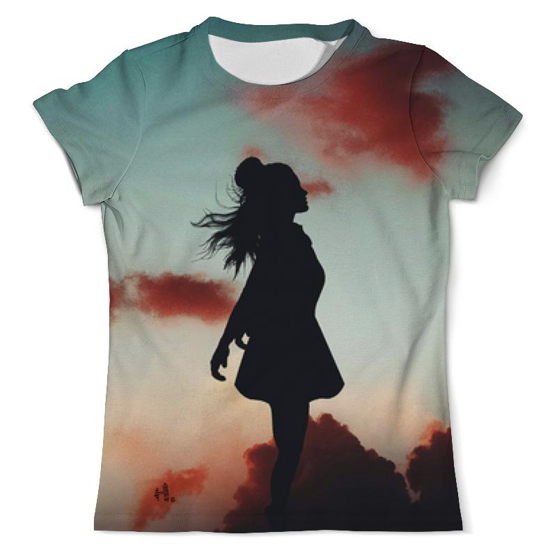 Printio Силуэт девушки футболка для девушки