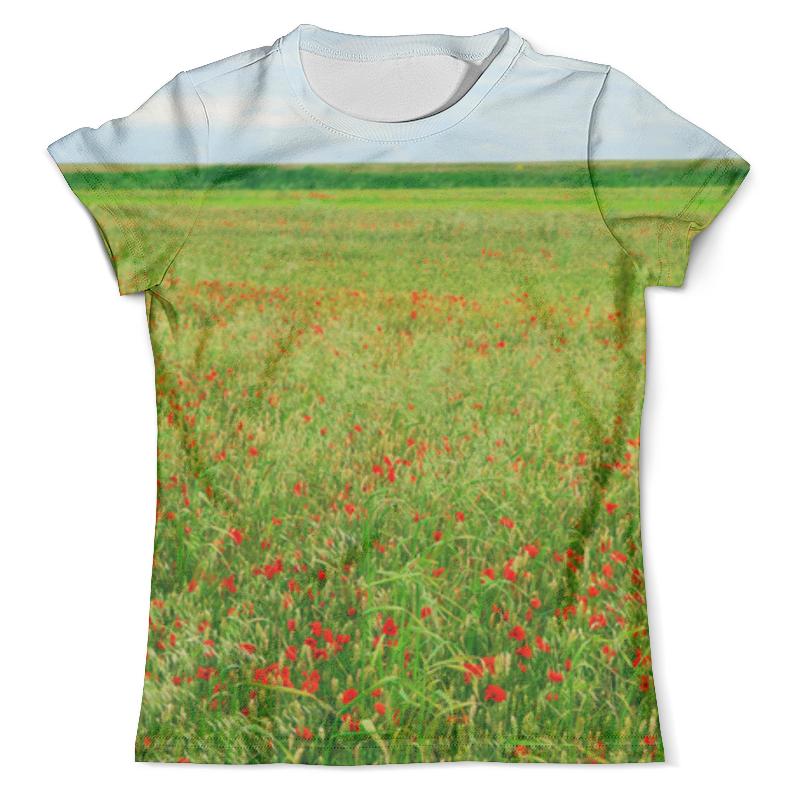 Футболка с полной запечаткой (мужская) Printio Поле с маками футболка с полной запечаткой мужская printio летнее солнцестояние эдвард роберт хьюз