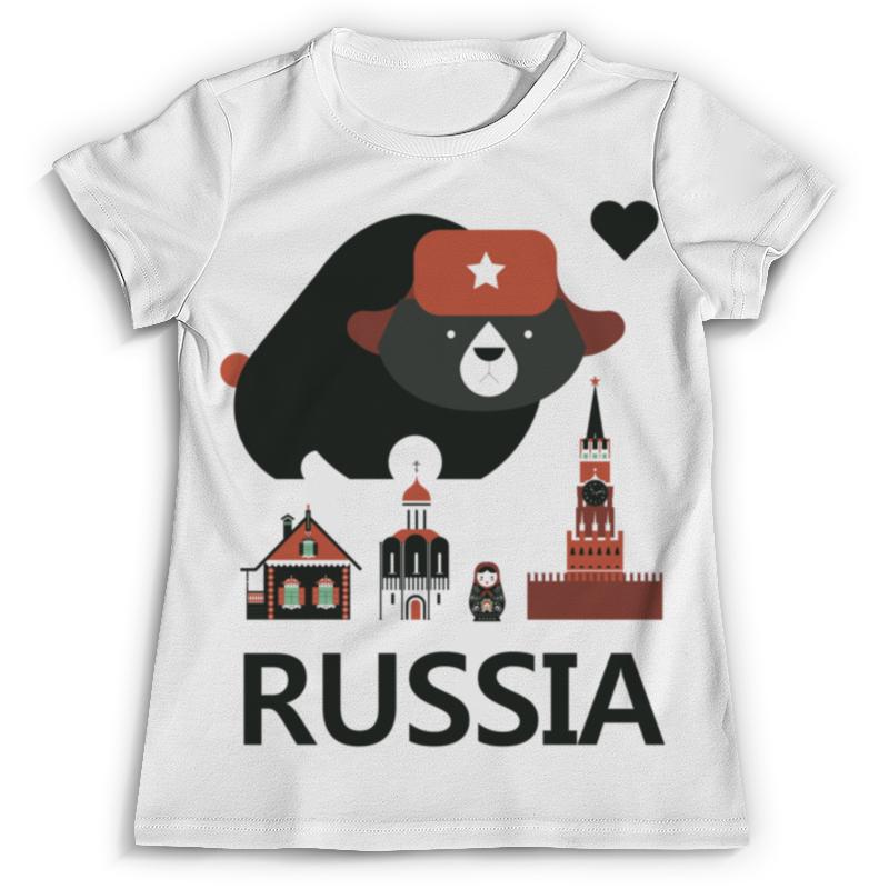 Футболка с полной запечаткой Printio Россия (russia) футболка с полной запечаткой printio москва россия