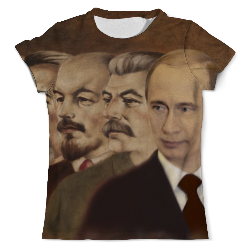 Футболка с полной запечаткой (мужская) Printio Ленин, сталин, путин футболка с полной запечаткой мужская printio путин в в